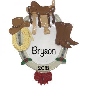 Cowboy Personalized Ornament