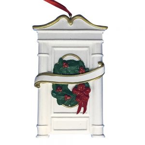 White Door Personalized Christmas Ornament - Blank