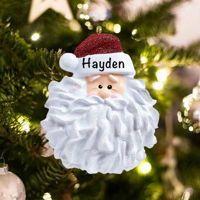 Personalized Santa Beard Christmas Ornament