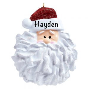 Santa Beard Personalized Christmas Ornament