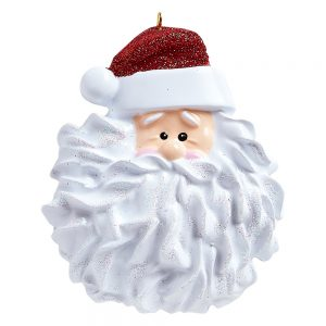 Santa Beard Personalized Christmas Ornament - Blank