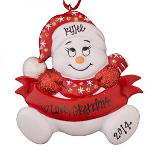 Red Snowbaby Personalized Christmas Ornament