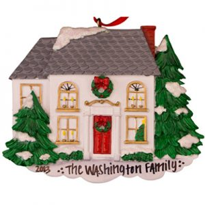White House Personalized Ornament