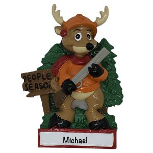 Hunting People Season Personalized Christmas Ornament