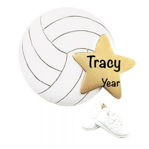 Volleyball Star Personalized Christmas Ornament