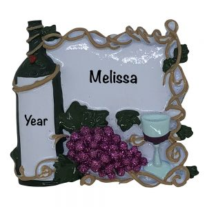Wine Personalized Christmas Ornament