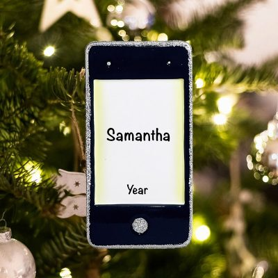Personalized iPhone Christmas Ornament
