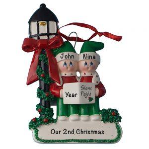 Christmas Choir Couple Personalized Christmas Ornament