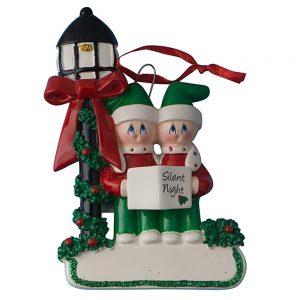 Christmas Choir Couple Personalized Christmas Ornament - Blank