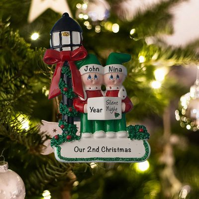 Personalized Choir Couple Christmas Ornament