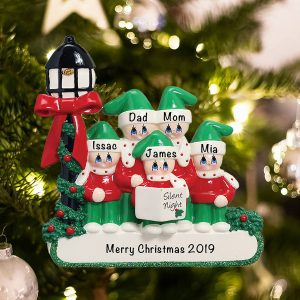 Personalized Choir Family of 5 Christmas Ornament