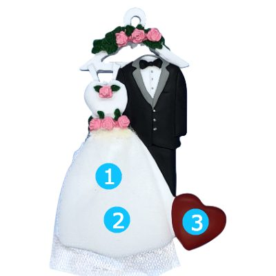 Wedding Attire Personalized Ornament
