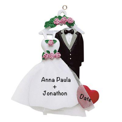 Wedding Attire Personalized Christmas Ornament