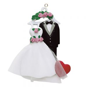 Wedding Attire Personalized Christmas Ornament - Blank