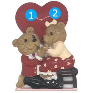 Engagement Bears Personalized Ornament