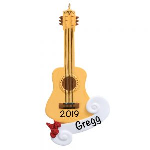 Acoustic Guitar Personalized Christmas Ornament