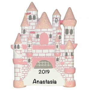 Princess Castle Personalized Christmas Ornament