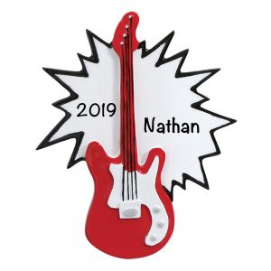 Electric Guitar Personalized Christmas Ornament