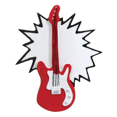 Electric Guitar Personalized Christmas Ornament - blank