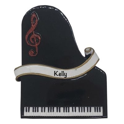 Piano Personalized Christmas Ornament