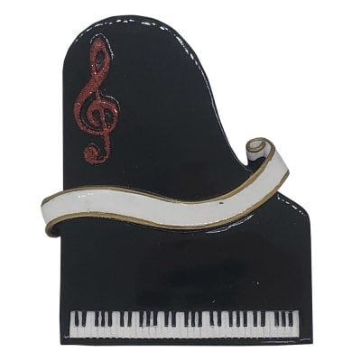 Piano Personalized Christmas Ornament - Blank