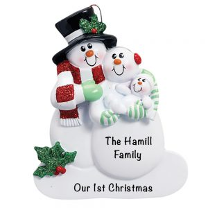 Family 1st Christmas Personalized Christmas Ornament