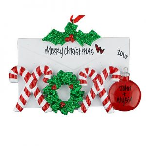 Candy Cane Love Letter Christmas Ornament
