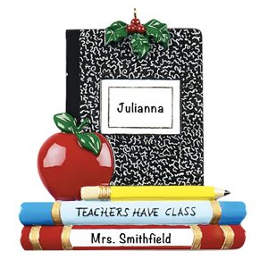 Teachers Have Class Personalized Christmas Ornament