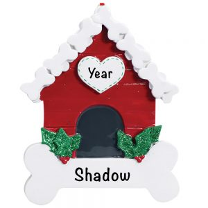 Dog Bone House Personalized Christmas Ornament