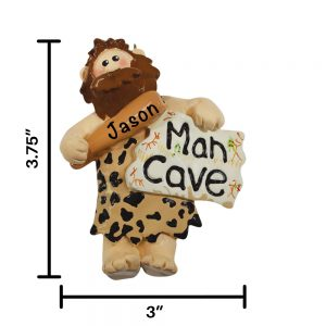 Man Cave Personalized Christmas Ornament