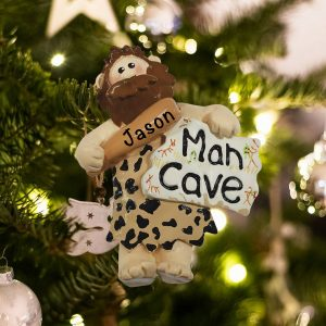 Personalized Man Cave Christmas Ornament