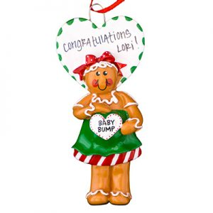 Gingerbread Mom To Be Personalized Ornament