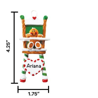 Gingerbread High Chair Personalized Christmas Ornament
