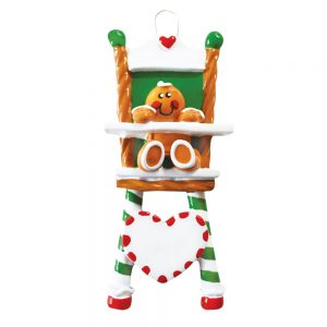 Gingerbread High Chair Personalized Christmas Ornament - Blank