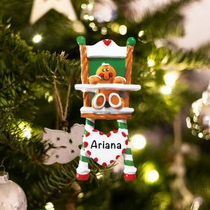 Personalized Gingerbread High Chair Christmas Ornament