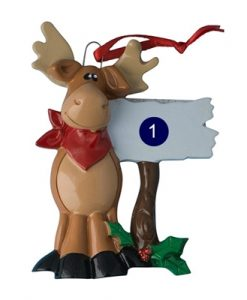 Moose with Sign
