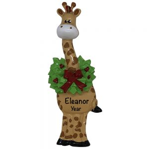 Christmas Giraffe Personalized Christmas Ornament
