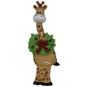 Christmas Giraffe Personalized Christmas Ornament - Blank