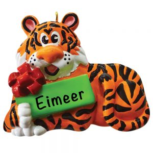 Christmas Tiger Personalized Christmas Ornament