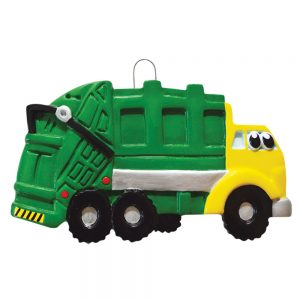 Garbage Truck Personalized Christmas Ornament - Blank