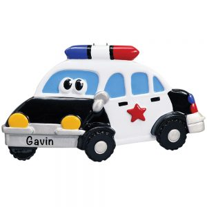 Police Car Toy Personalized Christmas Ornament
