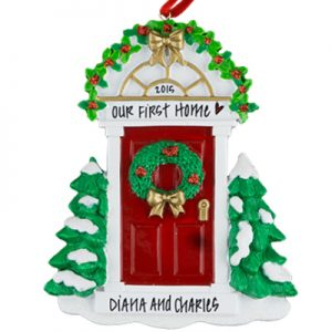 Red Door Personalized Ornament