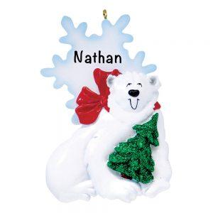 Polar Bear Personalized Christmas Ornament