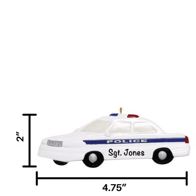 Police Car Personalized Christmas Ornament