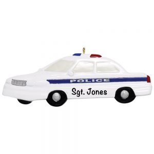 173 Police Car Personalized Christmas Ornament