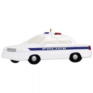 173 Police Car Personalized Christmas Ornament -Blank