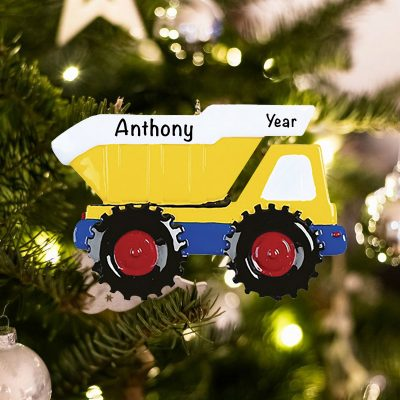 Personalized Dump Truck Christmas Ornament