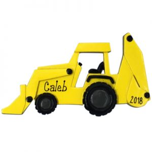 Back Hoe Personalized Ornament