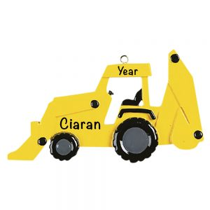 Back Hoe Personalized Christmas Ornament
