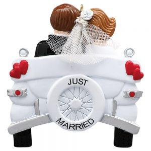 Wedding Car Personalized Christmas Ornament - Blank